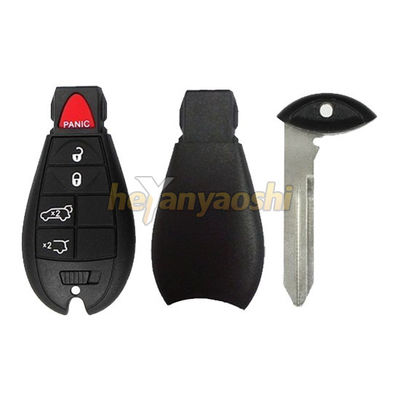 Chrysler 5Buttons Smart Key Shell with Emergency Key Insert