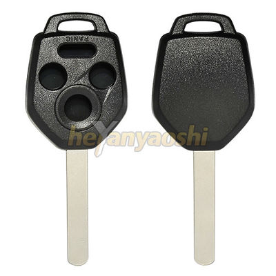Subaru 4 Buttons Smart Key Shell With Emergency Key Insert Black Color